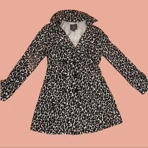 Forever 21 Leopard Print Trench Coat